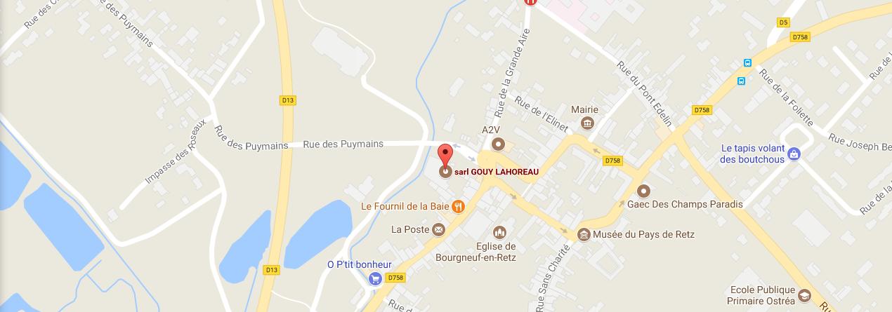 Carte de l'implatation de l'entreprise Gouy-Lahoreau