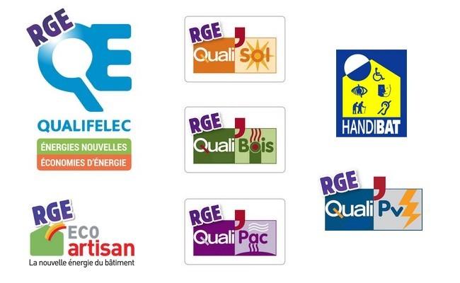 labels et qualifications RGE et Handibat